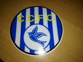 Cardiff city football club CCFC circular car window vinyl stickers x 30 warehouse clearance