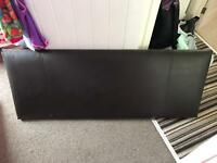 Faux leather headboard - dark brown, king size