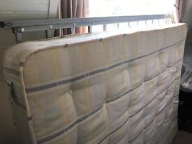 Queen bed (metal frame and pocket springs mattress)