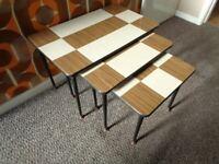 Vintage Mid Century, Rare Set of Tables