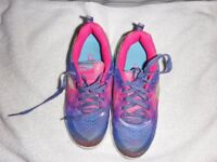 Girls Skechers Multi coloured Lightweight trainers size 13 1/2