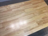 115cm Rectangular Oak and Grey Dining Table
