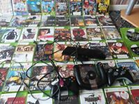 Xbox 360 + 3 controllers + 72 games ( Nintendo ps PC laptop one )
