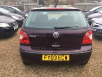VOLKSWAGEN POLO 1.2 S HATCHBACK 3DR 2003 * IDEAL FIRST CAR * CHEAP INSURANCE * EXCELLENT CONDITION