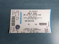 Guns n Roses Slane Castle Ticket (27th May, 2017)
