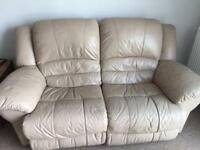 X2 two seater sofa with additional storage footstool
