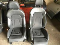 Audi A4 b8 half leather black interior complete with door cards .