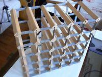 25 slot wood & steel wine rack (5 x 5)