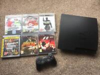 Song PS3 Slimline Console 160GB with Controller and six games