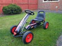 Boys pedal go-kart