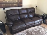 Leather Sofa, Full Electric Recliner