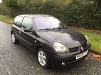CLIO 1.2 BILLABONG 53 REG IN BLACK WITH BLACK TRIM AND MOT APRIL 2017, PETER JAMES CARS 07867955762