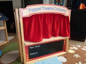 ELC Early Learning Centre Puppet Theatre and Large Collection of Puppets
