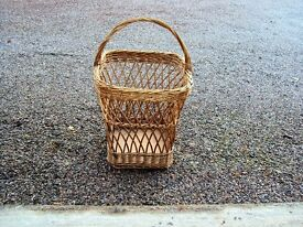 Lovely wicker log or laundry basket