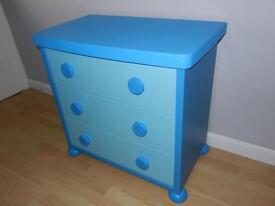 Ikea childrens blue drawers