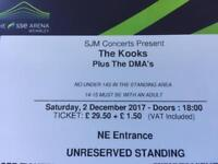X2 Tickets for The Kooks - SSE Arena Wembley Saturday 2nd December