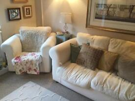 *FREE* two piece sofa + full set of floral covers