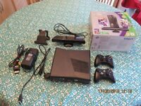 XBOX 360 + KINNECT + TWO CONTROLLER