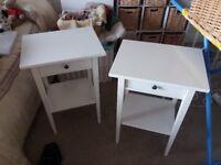 IKEA Hemnes white bedside tables