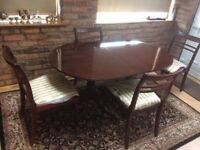 Mahogany- red wood table and chairs