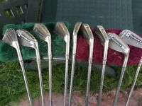 Full set of Pinpointer III irons plus 1,3,5 drivers and putter