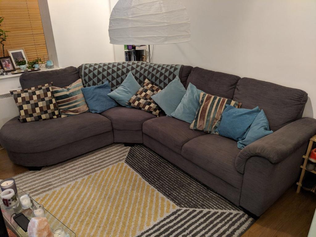 ikea tidafors l shaped corner sofa arm right in hensta grey in leeds city centre west. Black Bedroom Furniture Sets. Home Design Ideas