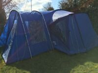 Lichfield sandwood 4+2 tent, side extension and tent carpet