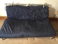 Double Futon 2 Seater Metal Frame Sofa Bed