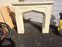 Fire surround and hearth,