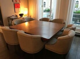 UK Custom Made Dining Table with Eight Chairs
