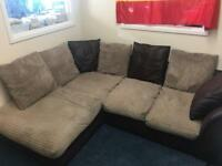 Cord corner sofa in Hornchurch