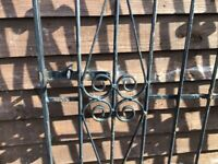 5ft Wrought Iron Gate, with Hinges