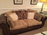 2 Sofas, 3 Seater, 2 Seater,all in good condition,complete with scatter cushions