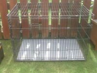 DOG CAGE XX LARGE WITH METAL TRAY STRONG CAGE £45