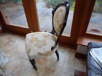 antique nursing style chair