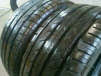 2x225/45/17 94W Extra load Matching Pair 7-8MM tread Excellent Part worn tyres, FREE FITTING & BALAN