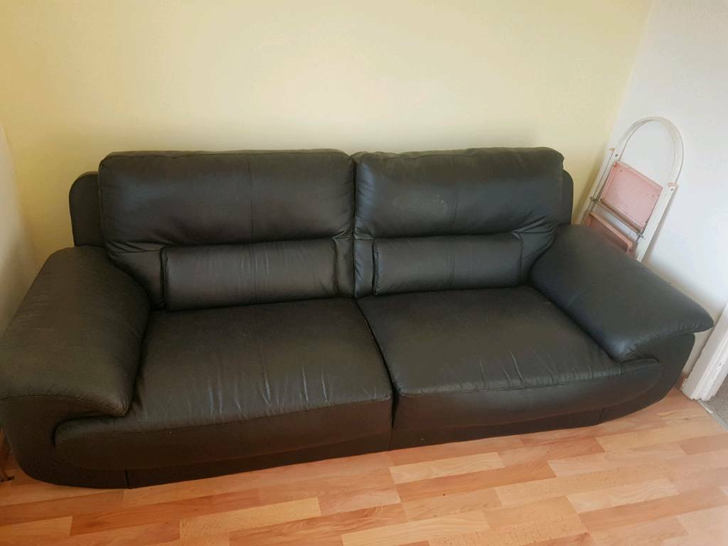 2 seat, fake leather couch