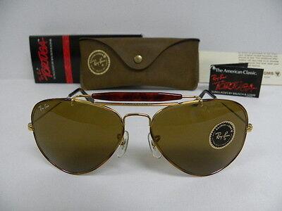 New Vintage B&L Ray Ban Outdoorsman Tortuga Arista Gold Tortoise B-15 58mm L1705