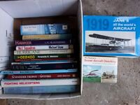 16 GOOD QUALITY AIRCRAFT BOOKS INCLUDING JANES ALL THE WORLDS AIRCRAFT 1919