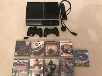 PS3 + 9 Games For Sale
