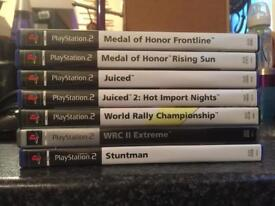 7 fully tested and working ps2 games