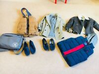 Bundle of boys Next Jackets Gilets Espadrilles Messenger bag. 8-9 years old. Size 4 /5 espadrilles
