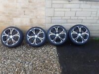 Diamond cut alloy wheels and tyres