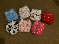Various Used cloth nappies - totsbots, blueberry, etc. I can deliver/post