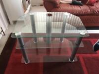 Glass TV stand, Glass tables and Glass sideboard