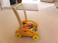 push along baby walker with patterned bricks - Mamas & Papas
