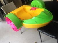 Kids paddle boat