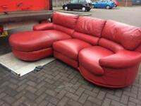 Real Leather corner suite with single chair