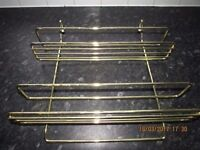 Spice Rack & Cook Book Holder + Fittings for Rail in Brass