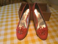 Coral colour shoes M&S brand new .never worn